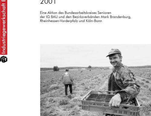 Saisonarbeit 2003 – Deutschland